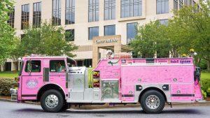 Pink Firetruck Offers Hope