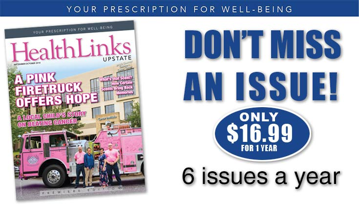 Subscribe to HealthLinks Upstate Magazine