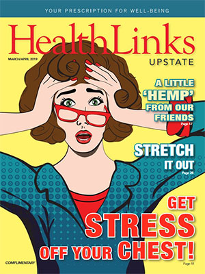 HealthLinks Upstate Magazine cover, March/April 2019 issue