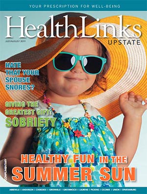 HealthLinks Upstate Magazine cover, July/August 2019 issue