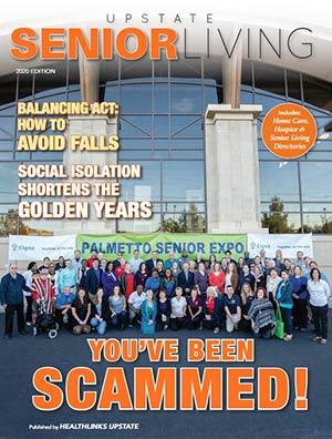 Upstate SC Senior Living 2020 magazine cover