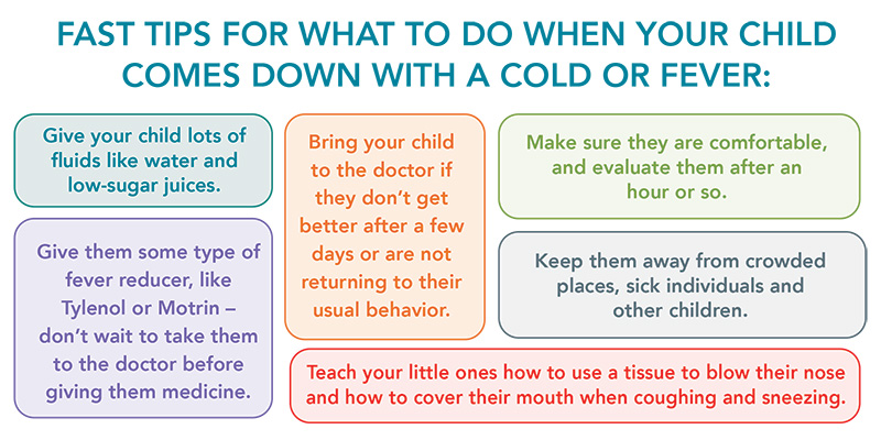 Fast tips for cold or fever