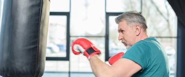 Senior boxing with Parkinson's