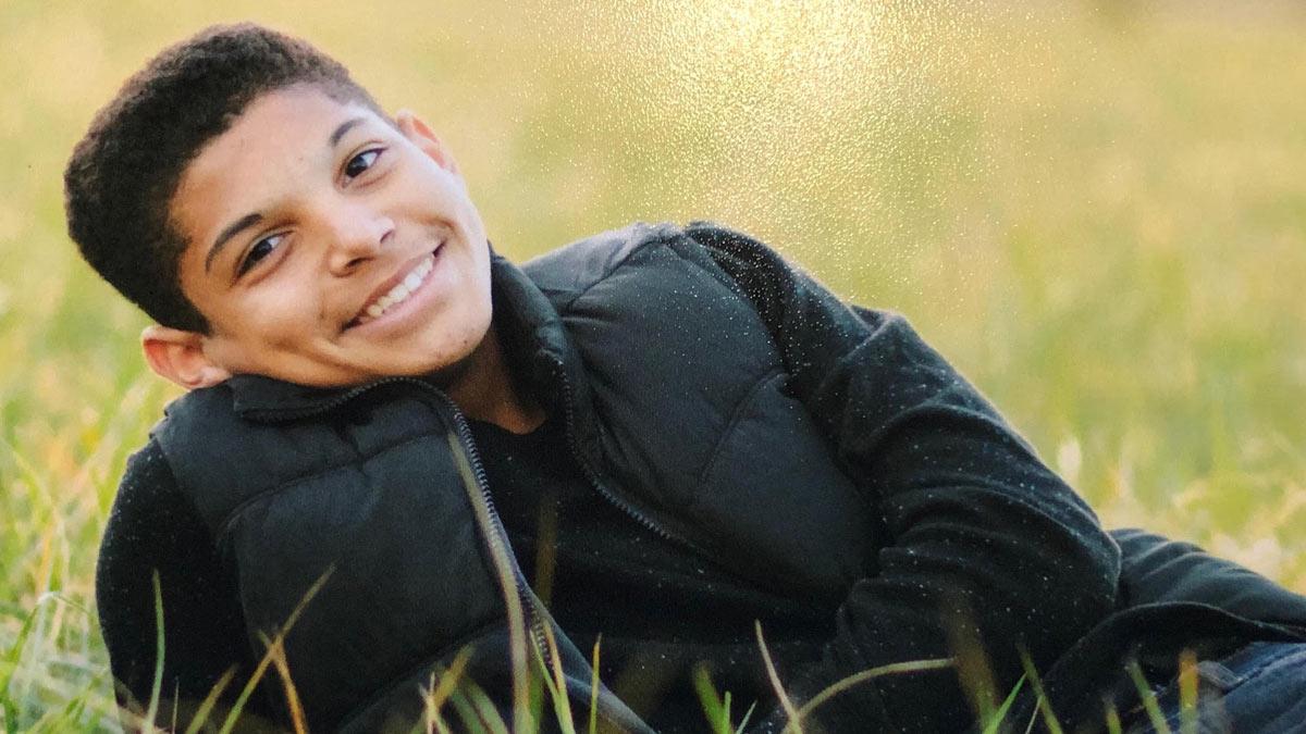 Keegan Johnson smiling