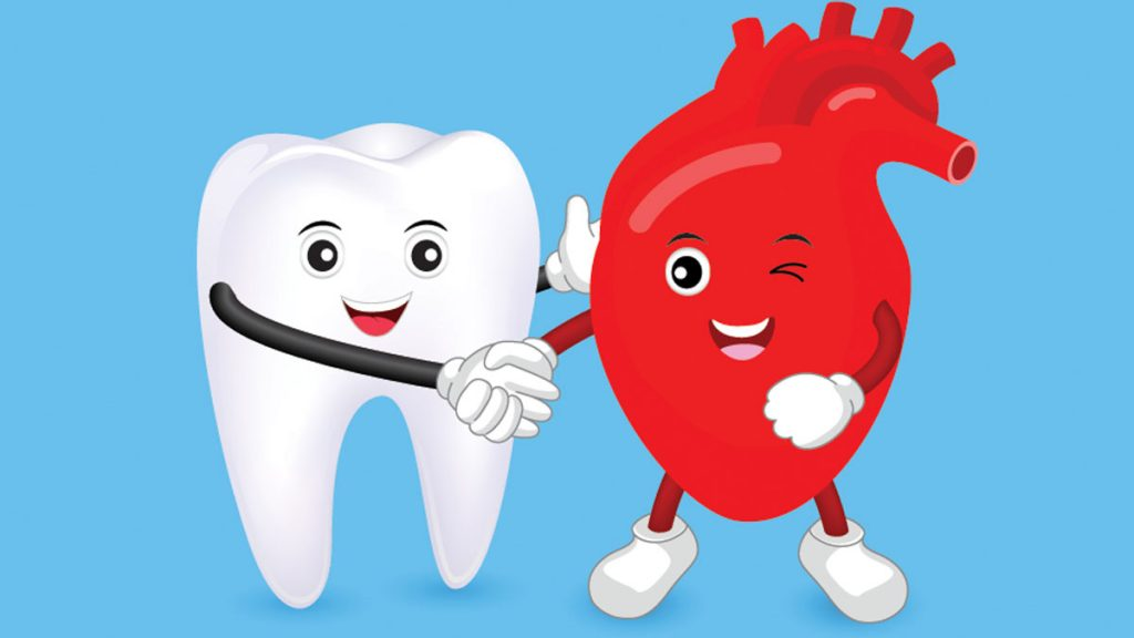 Graphic of Tooth and Heart Holding Hands