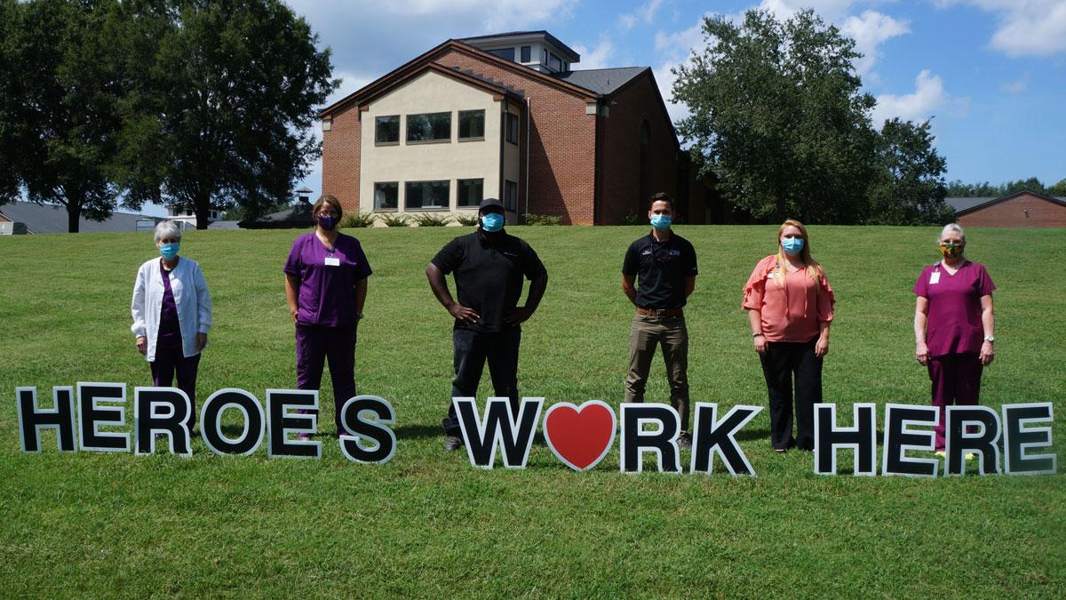 Staff at Martha Franks Retirement Community