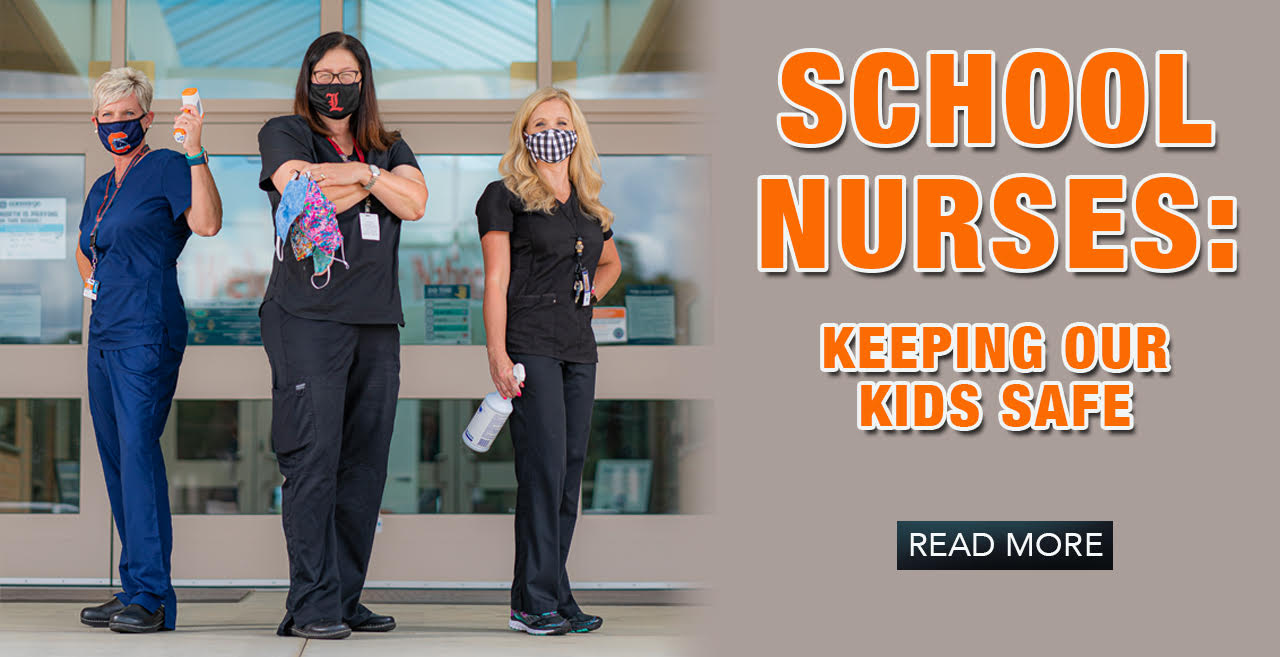 School Nurses - Keeping Our Kids Safe [hero banner]