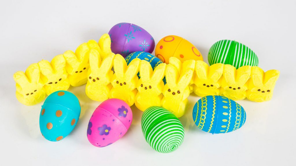 Easter Eggs and Peeps Candy
