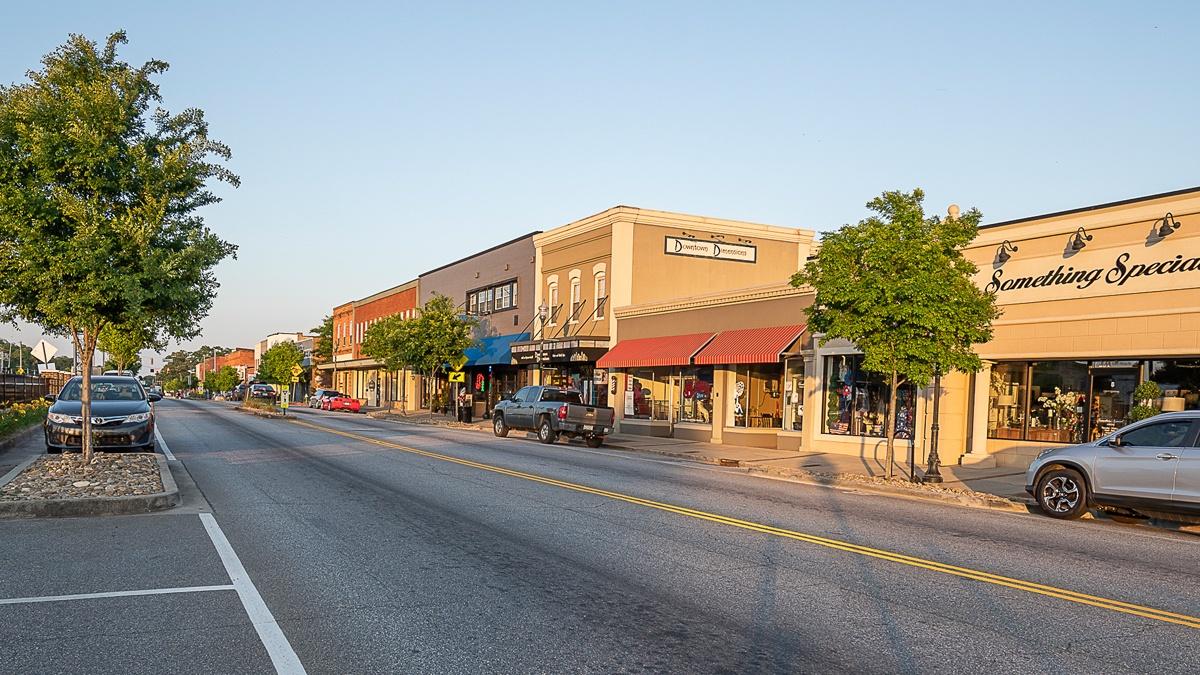 City street in Easley South Carolina