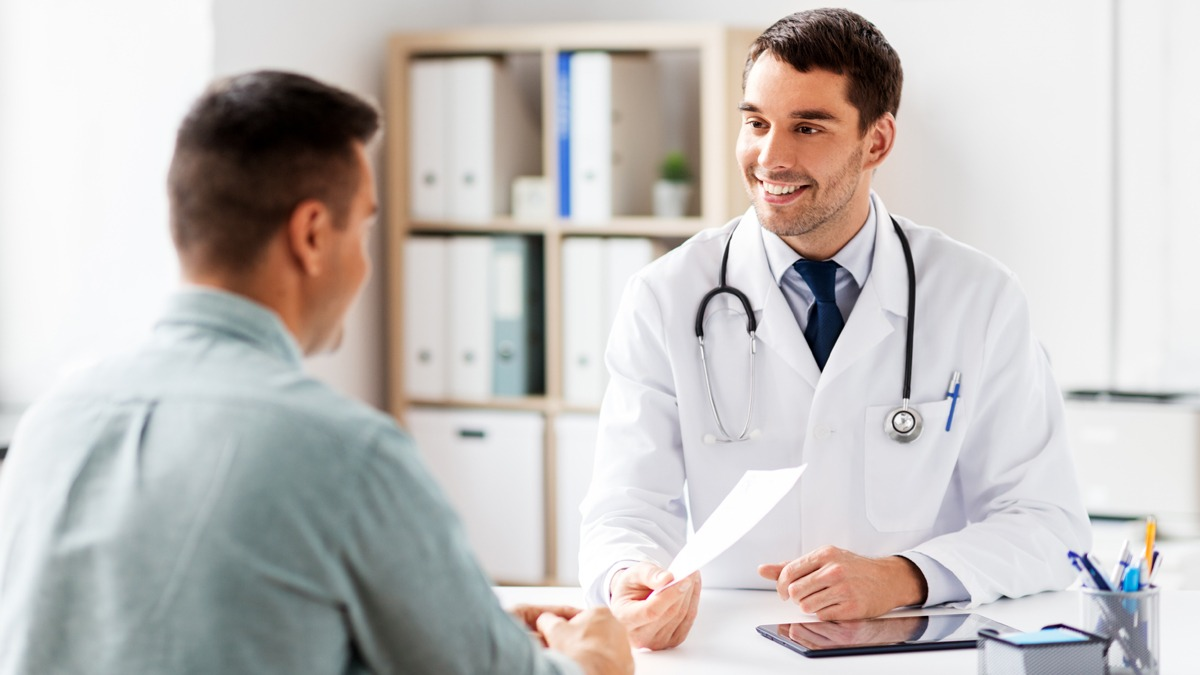 Primary care doctor seeing patient